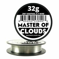 250 ft - 32 Gauge AWG A1 Kanthal Round Wire 0.20mm Resistance A-1 32g GA 250'