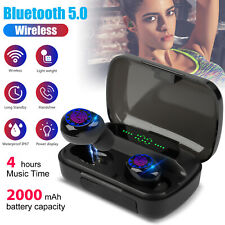 Bluetooth 5.0 Earbuds TWS Wireless Headset Headphones Sport Stereo Earphone IPX7