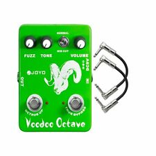 Joyo JF-12 Voodoo Octave Divider & Fuzz Guitar Effects Pedal w/ 2 Patch Cables