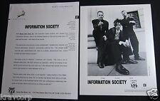 INFORMATION SOCIETY 'PEACE & LOVE INC.' 1992 PRESS KIT--PHOTO