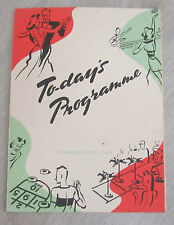 R.M.S.Cunard White Star Line Queen Mary Ship Programme Of Events 1950 Vintage