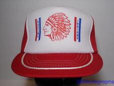 Vintage 1980s Bazine Indians Native American Kansas High School Snapback Hat Cap
