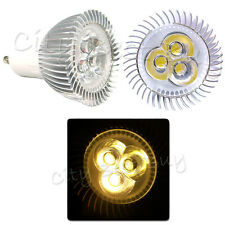 10x GU10 85~265V Spot Clear Lens Lamp Bright Power Bulb 3x1W 3W 3 LED Warm White