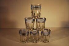 6 x Vintage Shot Glasses - French Shot Glasses    #999