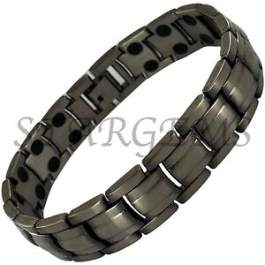 MENS BIO MAGNETIC BRACELET HIGH STRENGTH ARTHRITIS PAIN RELIEF HEALING GIFT