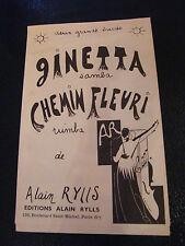 Partition Ginetta  Chemin Fleuri Samba Rumba de Alain Rylis