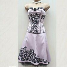UK 10 -12 Karen Millen Nude Lace Embroidered Corset Top & Flare Skirt Suit Dress