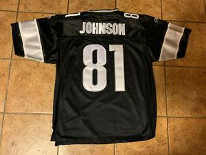 Unique Detroit Lions Calvin Johnson adult size 50 black SEWN jersey by Reebok