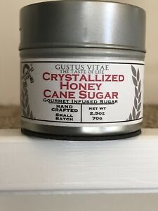 Cane Sugar Artisanal Infused Crystallized Honey  2.5 oz Hand-Crafted Small Batch