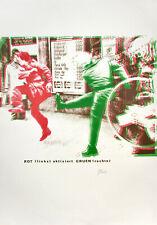 C. Böhmler: Rot (links) aktiviert Grün (rechts). [1974]. Sign. O.-Farbsiebdruck.