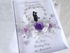 Handmade Personalised Card Wedding Day Anniversary Engagement Poison Box