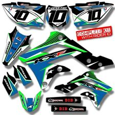 2006 2007 2008 KXF 250 GRAPHICS KIT KAWASAKI KX250F CONCEPT : GREEN / BLUE KIT