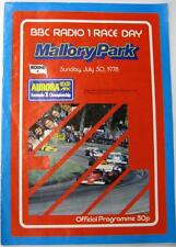 Mallory Park Bbc Radio 1 Raceday 30th Jul 1978 Motor Racing Official Programme