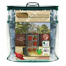 4 Tier Growhouse Mini Greenhouse Replacement PVC Cover heavy duty New