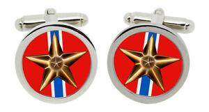 Bronze Star Medal Cufflinks in Chrome Box