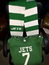 1970s New York Jets Rawlings Shirt and Vintage Jets Scarf Eddie Bell #7 CLEAN