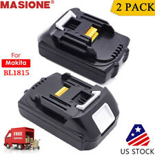 2 Pack 18V Lithium Ion Battery 18 Volt For Makita LXT BL1830 BL1815 Compact tool