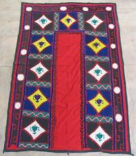 UZBEK SILK HAND EMBROIDERED SUZANI JOYPYSH # 8469