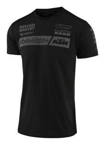 2020 Troy Lee Designs TLD KTM Team Adult T-Shirt Black MOTOCROSS MX Casual Top