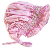 For 15-18 inch Dolls Pink Gingham Hand-Smocked Bonnet Doll Clothes