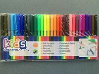 30 Fasermaler Filzstifte ### große Farbvielfalt ### bunt farbig Stifte Stift 2mm
