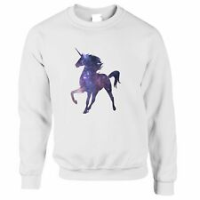 Mythical Space Jumper Galaxy Unicorn Silhouette Sparkle Stars Cool Nerd