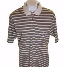 New Authentic Men's Paolo Golf Striped Polo Shirt Large