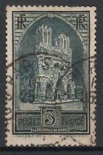 "FRANCE STAMP TIMBRE N° 259 b "" CATHEDRALE REIMS 3F TYPE III "" OBLITERE TB  M530"