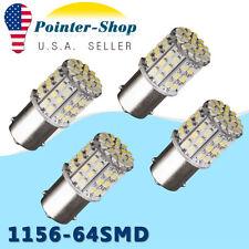 4x 6000K White 1156 BA15S 64smd Car RV Turn Signal Backup Reverse LED Light Bulb