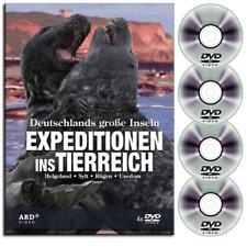 4 ARD DVD Box - Expeditionen ins Tierreich - Deutschlands gro�Ÿe Inseln - Neu