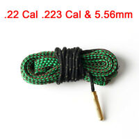 Hunting 22cal .223 5.56mm Brass Rope Boresnake Green Cleaner Cleaning Bore Snake