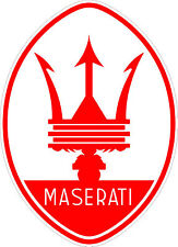 Maserati Sticker 140 x 100 mm  BUY 2 & Receive 3