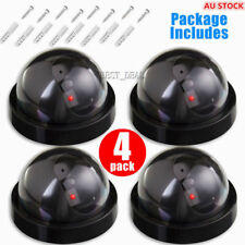 4xWireless Dummy Dome Fake Camera Home Realistic Security Flash LED+CCTV Sticker