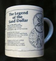 CAPE SHORE-Legend Of The Sand Dollar Embossed Ceramic Mug Cup JAPAN Rare EUC