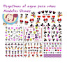 PEGATINAS AL AGUA DECORACIÓN UÑAS MANICURA NAIL ART WATER DECALS STICKERS DISNEY