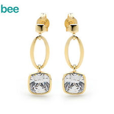9k 9ct Gold Simulated Diamond Fancy stone Drop Earrings 55312