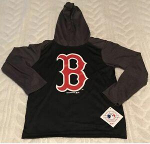 Boston Red Sox Lightweight Hoodie Shirt Boys Medium 8/10 Team Athletics MLB NWT