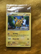 Pokemon Cards Pikachu PROMO Build-A-Bear Workshop Stamped. Rare NEW