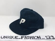 PALACE SKATEBOARDS FW16 PAL SUEDEY NAVY BLUE STADIUM 6 PANEL CAMP CAP P HAT