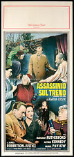 CINEMA-locandina ASSASSINIO SUL TRENO m.rutherford, a.kennedy,POLLOCK