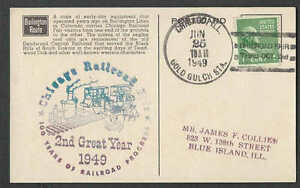 1949 PPC* #805 1c PREXY HORIZONTAL COIL ON BURLINGTON RR NARROW GAUGE SEE INFO
