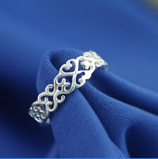 Wholesale 925 Sterling Silver Plated Women Fashion jewelry Rings SIZE US8 #27