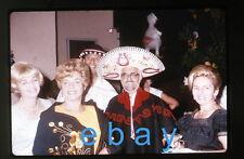 1960s Photo slide  house party fiesta costumes Sombrero Hat