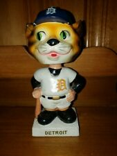 1961 Detroit Tiger Mascot Head White Base Nodder/Bobbin Head/Bobbing Head NICE