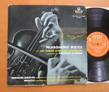 LXT 5334 Ruggiero Ricci Mendelssohn Bruch Pierino Gamba LSO Decca Mono EX/G