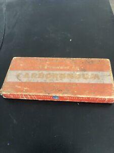 Vintage Carborundum Sharpening Stone In Original Box Unused #177