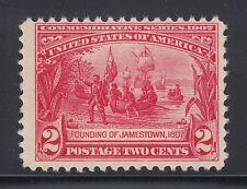 US Sc 329 MNH. 1907 2c carmine Jamestown Exposition issue, F+