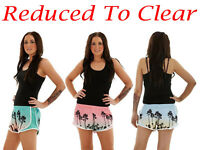 Ladies Swim Shorts Hawaiian Beach Summer Swimwear Hot Pants Multi-Color S-L