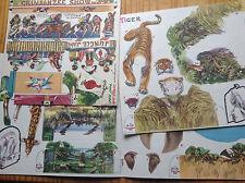 Vintage Lot Die Cut 3-D Zoo Animals Ken Giles Red Goose Shoes St Louis MO