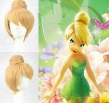 2017 New Disney Tinker bell Blonde Style Cosplay Wigs Cos Wig Free Shipping